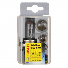 Autohalogenpære H4 Miniboxsæt. Bosch. 12V.