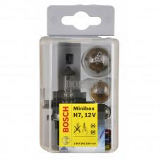 Autohalogenpære H7 Miniboxsæt. Bosch. 12V.