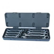 Blackbolt ringgaffelnøglesæt med skralde 15º 8-19mm