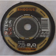 Skæreskive Ø75x2,0x10mm XT10 Rhodius