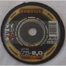 Skæreskive Ø75x1,0x10mm XT10 Rhodius