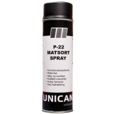 Spray maling P-22 Matsort 500ml UNICAN