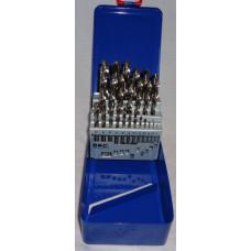 Spiralborsæt 1-13mm slebet i metal kasse