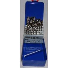 Spiralborsæt 1-13mm Slebet i metal kasse Cobalt HSSCo x0,5mm