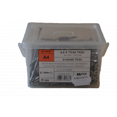 Terasseskrue 4,8x75 A4 TX20 250Stk.